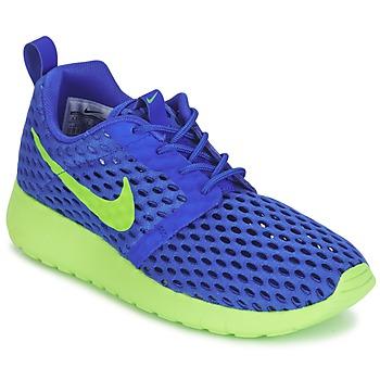 Obuća Dječak  Niske tenisice Nike ROSHE ONE FLIGHT WEIGHT BREATHE JUNIOR Blue / Zelena