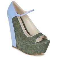 Obuća Žene  Salonke John Galliano S54261 Blue / Green