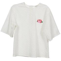 Odjeća Žene  Topovi i bluze Manoush FLOWER BADGE Bijela
