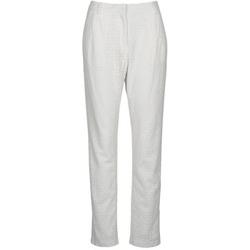 Odjeća Žene  Hlače s pet džepova Manoush FLOWER BADGE Bijela