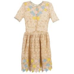 Odjeća Žene  Kratke haljine Manoush ROSES Krem boja