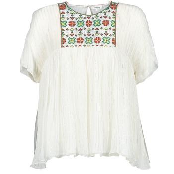 Odjeća Žene  Topovi i bluze Manoush POINT DE CROIX Krem boja