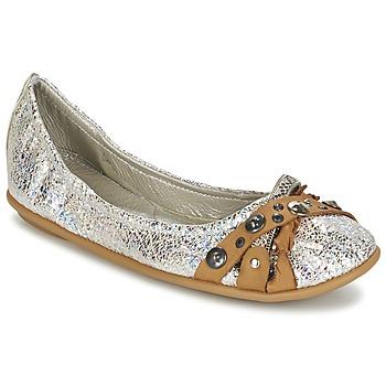 Obuća Žene  Balerinke i Mary Jane cipele Regard SOLI Srebrna / Bež