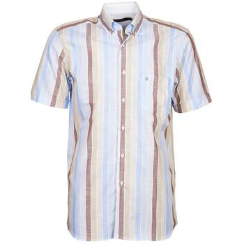 Odjeća Muškarci  Košulje kratkih rukava Pierre Cardin 539936240-130 Blue / Bež / Smeđa