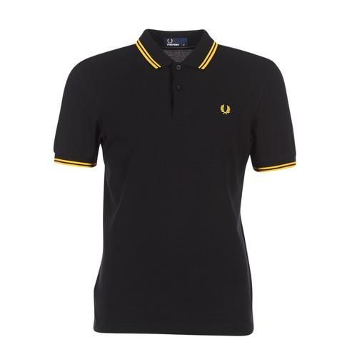 Odjeća Muškarci  Polo majice kratkih rukava Fred Perry THE FRED PERRY SHIRT Crna / Žuta
