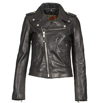 Odjeća Žene  Kožne i sintetičke jakne Schott SIMOUDE Crna