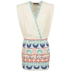 Odjeća Žene  Kratke haljine Antik Batik POLIN Bijela / Multicolour