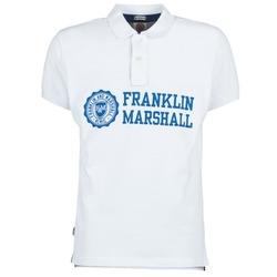 Odjeća Muškarci  Polo majice kratkih rukava Franklin & Marshall AYLEN Bijela