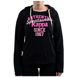 Odjeća Žene  Sportske majice Kappa  Crna
