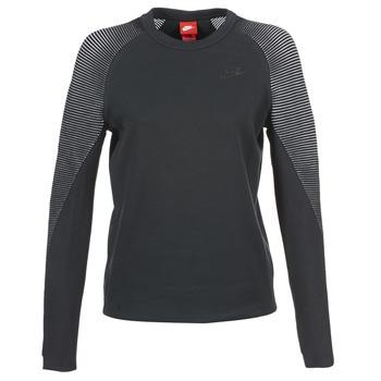 Odjeća Žene  Sportske majice Nike TECH FLEECE CREW Crna