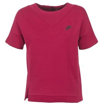 Odjeća Žene  Sportske majice Nike TECH FLEECE CREW Bordo