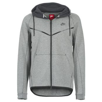 Odjeća Muškarci  Kratke jakne Nike TECH FLEECE WINDRUNNER HOODIE Grey