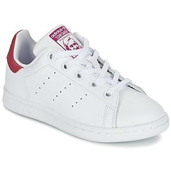 Obuća Djevojčica Niske tenisice adidas Originals STAN SMITH EL C Bijela / Ružičasta