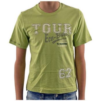 Odjeća Djeca Majice kratkih rukava Diadora  Zelena
