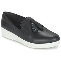 Obuća Žene  Slip-on cipele FitFlop TASSEL SUPERSKATE Crna