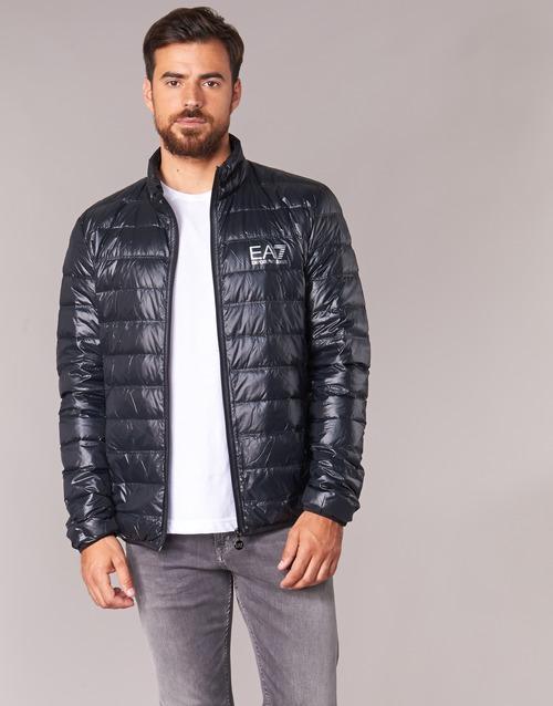 Odjeća Muškarci  Pernate jakne Emporio Armani EA7 JAFOUKARO Crna