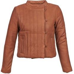 Odjeća Žene  Kožne i sintetičke jakne Antik Batik YOANN Boja konjaka