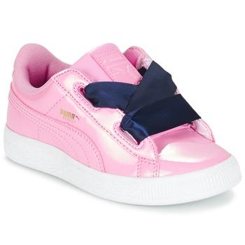 Obuća Djevojčica Niske tenisice Puma BASKET HEART PATENT PS Ružičasta