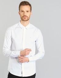 Odjeća Muškarci  Košulje dugih rukava Calvin Klein Jeans WILBERT Bijela