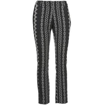 Odjeća Žene  Hlače s pet džepova Manoush TAILLEUR Siva / Crna