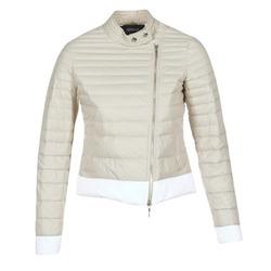 Odjeća Žene  Pernate jakne Armani jeans BEAUJADO Bež / Bijela