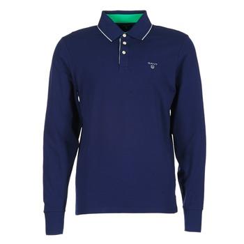 Odjeća Muškarci  Polo majice dugih rukava Gant 3-COL CONTAST RUGGER Blue