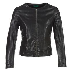 Odjeća Žene  Kožne i sintetičke jakne Benetton JANOURA Crna