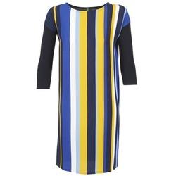 Odjeća Žene  Kratke haljine Benetton VAGODA Blue / Žuta / Bijela