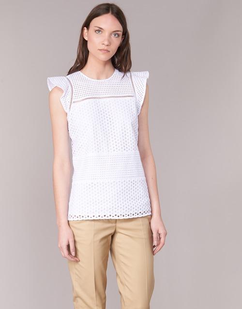 Odjeća Žene  Topovi i bluze MICHAEL Michael Kors COMBO EYELET S/S Bijela