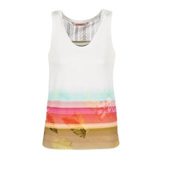 Odjeća Žene  Majice s naramenicama i majice bez rukava Desigual TEDERI Bijela