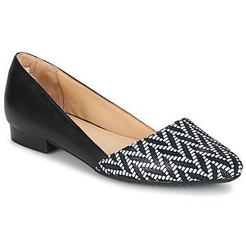 Obuća Žene  Balerinke i Mary Jane cipele Hush puppies JOVANNA Crna / Bijela
