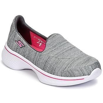 Obuća Djevojčica Slip-on cipele Skechers GO WALK 4 Siva