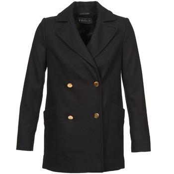 Odjeća Žene  Kaputi Esprit WATTS Crna
