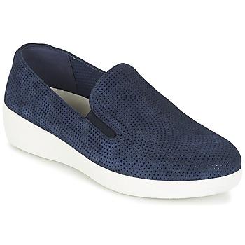 Obuća Žene  Slip-on cipele FitFlop SUPERSKATE (PERF) Blue