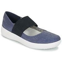 Obuća Žene  Balerinke i Mary Jane cipele FitFlop FSPORTY MARY JANE CANVAS Blue