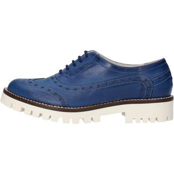 Obuća Žene  Derby cipele & Oksfordice Olga Rubini classiche blu pelle AF117 Blu