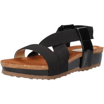 Obuća Žene  Sandale i polusandale Olga Rubini sandali nero tessuto vernice AF792 Nero