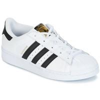 Obuća Djeca Niske tenisice adidas Originals SUPERSTAR Bijela / Crna