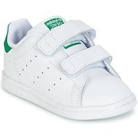 Obuća Djeca Niske tenisice adidas Originals STAN SMITH CF I Bijela / Zelena