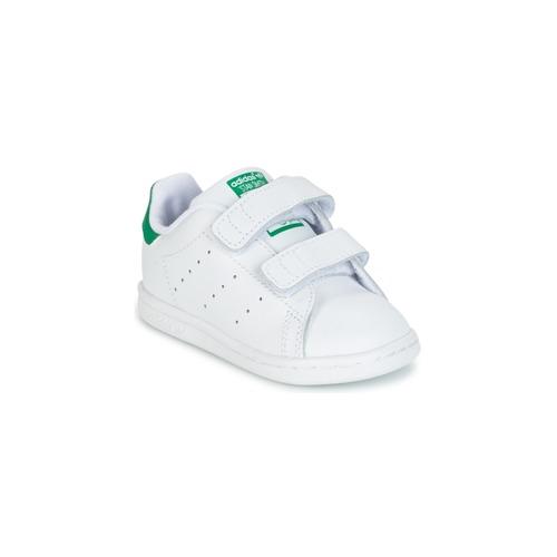 Obuća Dječak  Niske tenisice adidas Originals STAN SMITH CF I Bijela / Zelena