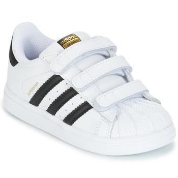 Obuća Djeca Niske tenisice adidas Originals SUPERSTAR CF I Bijela / Crna