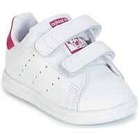Obuća Djevojčica Niske tenisice adidas Originals STAN SMITH CF I Bijela / Ružičasta