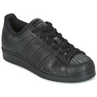 Obuća Djeca Niske tenisice adidas Originals SUPERSTAR Crna