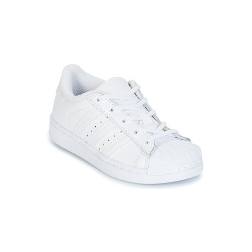 Obuća Djevojčica Niske tenisice adidas Originals SUPERSTAR Bijela