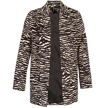 Odjeća Žene  Kaputi Naf Naf DEBOA Crna / Krem boja