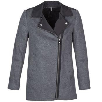 Odjeća Žene  Kaputi Naf Naf ARNO Siva / Crna