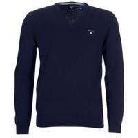 Odjeća Muškarci  Veste i kardigani Gant SUPER FINE LAMBSWOOL V-NECK Blue