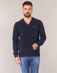 Odjeća Muškarci  Puloveri Gant SUPER FINE LAMBSWOOL V-NECK Blue