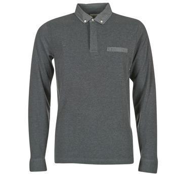 Odjeća Muškarci  Polo majice dugih rukava Serge Blanco POCHA Crna / Siva