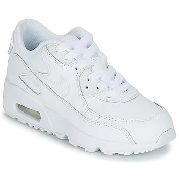 Obuća Djeca Niske tenisice Nike AIR MAX 90 LEATHER PRE-SCHOOL Bijela